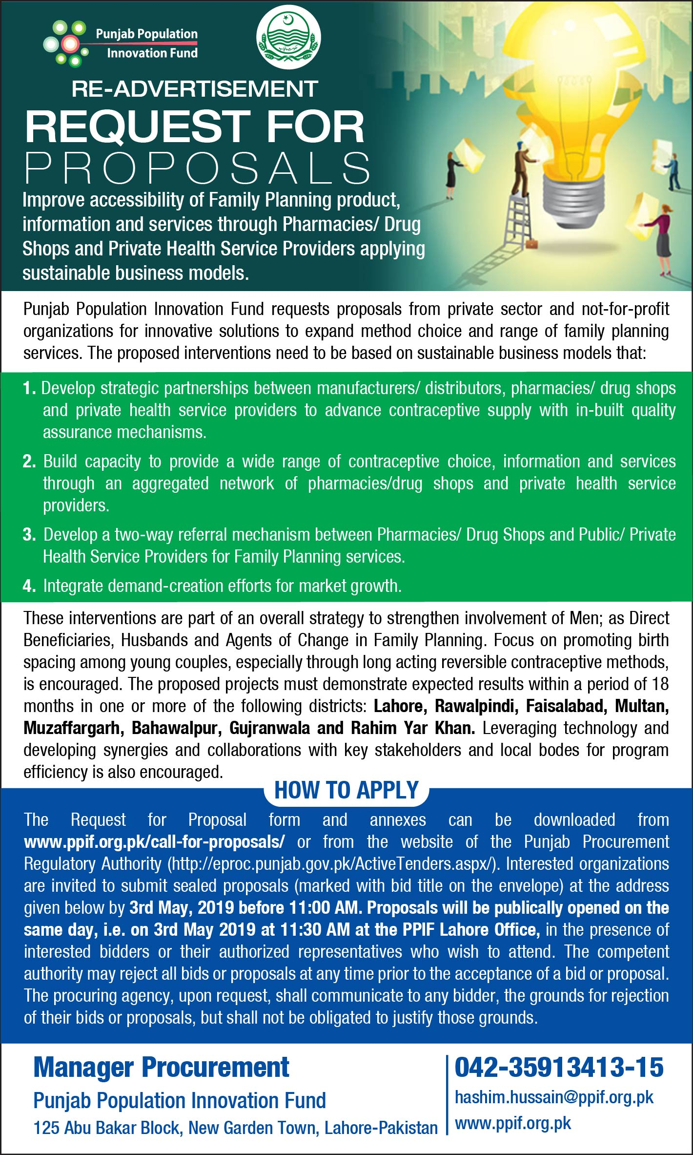 Tenders - Punjab Population Innovation Fund (PPIF)